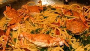 Spaghetti ai granchi*