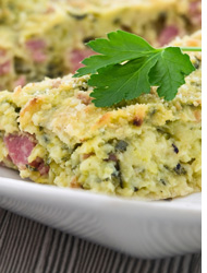 Pasticcio di patate e zucchine con Speck*